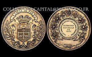 Pau, Horticulture & de Viticulture, Exposition Nationale de 1891. Argent doré