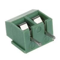 30Pcs 2 Pole 5mm de hauteur PCB Montage bornier a vis 8A 250V A9Q6