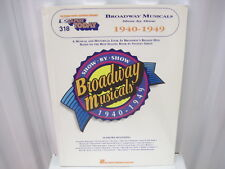 Broadway Musicals 1940-1949 EZ Play Today 318 Sheet Music Song Book Easy Piano