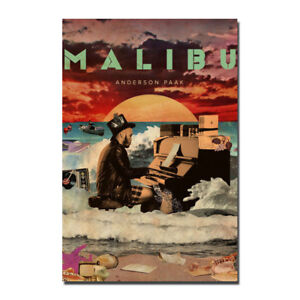 Anderson Paak Malibu Album Silk Canvas Poster 13x20 24x36 inch