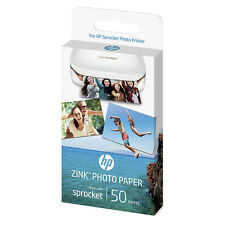 HP ZINK Fotopapier 5 x 7.6 cm für HP Sprocket Photo Printer 50 Stück (Blätter)