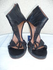 SIGERSON MORRISON MADE IN ITALY LEATHER SHOES SIZE 8, BLACK