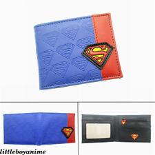 DC Comics Superman Pu Wallet Bifold Short Purse Boys Girls Holder Card Pack Gift