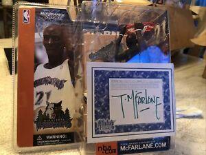 NEW AUTOGRAPHED McFarlane NBA Series 1 Kevin Garnett Timberwolves Blue Variant
