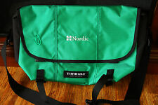 Timbuk2 Messenger Bag Green Made for Nordic w/ Embroidery Defect