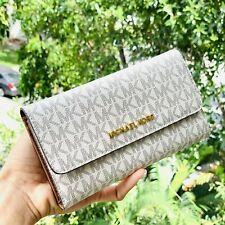 Michael Kors Women PVC Leather Trifold Wallet Credit Card Holder Bag Clutch Lady