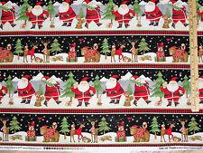 Santa and Friends  Debbie Mumm Sampler Christmas Fabric by the 1/2 Yard  #67543