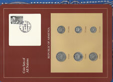 Coin Sets of All Nations Armenia w/card UNC 5,3,1 Tram 50,20,10 Luma 1994
