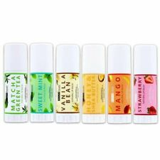 Beauty Treats Natural Lip Balm - Pack of 6 Flavors
