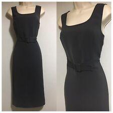 BOMBSHELL ARTIGIANO Wiggle Shift Dress H-Dress Dark Grey Career Work Classy UK10