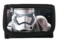 "New Disney Star Wars ""The Force Awaken"" Storm Trooper Tri Fold Wallet - Black"