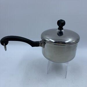 Farberware 1 Qt Saucepan Lid Pot Stainless Steel Aluminum Clad USA Vintage