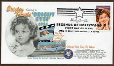 SHIRLEY TEMPLE ~ LEGEND OF HOLLYWOOD STAMP ~ DOCTOR CACHET ~ FIRST DAY COVER