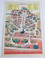 Vintage General Motors Souviner Map of the 1940 New York World's Fair