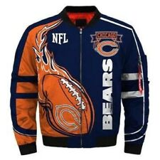 Chicago Bears Men's Pilot Bomber Jacket Flying Tigers Flight Thicken Coat Gifts
