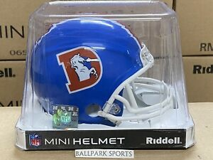 DENVER BRONCOS (1975-96 Throwback) Riddell VSR4 Mini Helmet