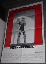 THE DAMNED/NAZIS IN DRAG orig 1970 movie poster HELMUT BERGER/CHARLOTTE RAMPLING