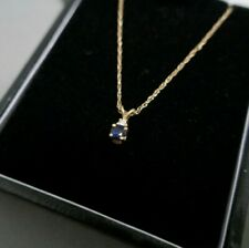 14ct Yellow Gold Sapphire and Diamond Necklace