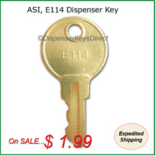 ASI, E-114 Dispenser Key for Paper Towel, Soap & Tissue - (1/pc.)