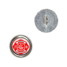 Firefighter Firemen Maltese Cross - American - Red - Sewing Buttons Set of 4