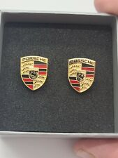 Porsche Cufflinks 925 Sterling Silver Made in Germany With Box