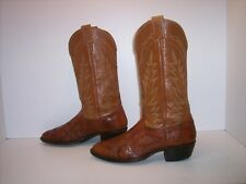 NOCONA Brown Exotic Leather Western Boots Men's Size 8.5 D