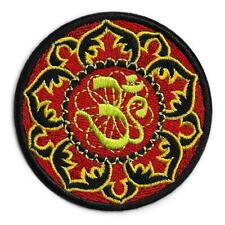 """OHM LOTUS IRON ON PATCH 3"""" Aum Om Hippie Yoga Hindu Peace Embroidered Applique"""