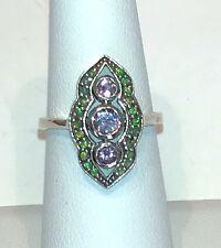 Sterling Silver Light Amethyst Topaz, Fire Opal Ring Size 6 1/2.