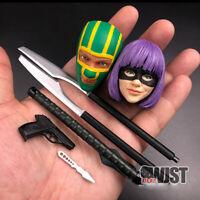 MEDICOM 1/6 Super Killing Female Colo and Kick Ass Head Sculpt W Gun Weapon Toy