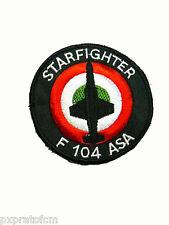 Patch Toppa Starfighter F 104 ASA Aeronautica Militare Italiana Stemma Ricamata
