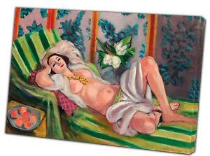 Henri Matisse, Odalisque Couchée Aux Magnolias  PAINT REPRINT ON   FRAMED CANVAS