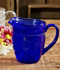 The Pioneer Woman Adeline Glass Cobalt Blue Color Creamer Pitcher 11.01 Ounce
