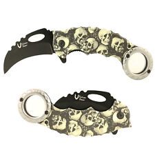 Assisted Open Folding Pocket Knife Karambit Combat Tactical New Camo Claw Blade