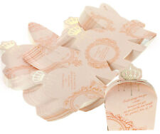 50Pcs Royal Crown Candy Boxes Gift Box for Chocolate Wedding Party Diy Pink