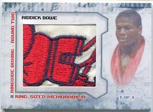 Riddick Bowe 2011 Ringside Boxing Round 2 King-Sized Memorabilia TRUNKS 1/1