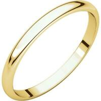 10K Yellow Gold 2mm Half Round Wedding Band-