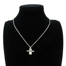 """7-1 Silver Alloy I Love Volleyball Sport Pendant Short Chain Collar Necklace 18"""""""