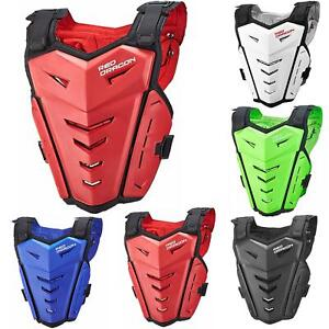 Motorcycle Body Armored Vest BMX MTB Biker Motocross Protector Chest Spine Guard