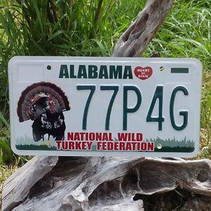 Plaque d'immatriculation de l'Alabama (77P4G)  License Plate USA  Authentique