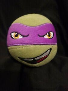 Teenage Mutant Ninja Turtles Donatello Plush Stuffed Head Ball Pillow Purple