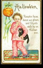 1908 Halloween Ellen Clapsaddle Child Postcard