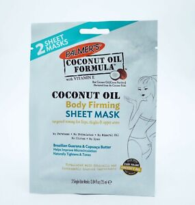 2 x Palmers Coconut Oil Body Firming Sheet Mask 2 Masks Each Ladies Body Toning
