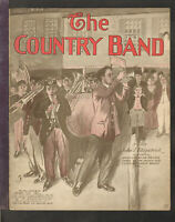 COUNTRY BAND Fitzpatrick 1910 Piano March Solo Vintage Sheet Music