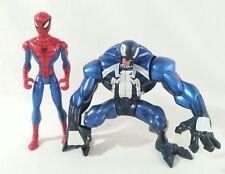 Spectacular Spider-Man Animated VENOM & SPIDERMAN Action Figure Lot Hasbro 2008