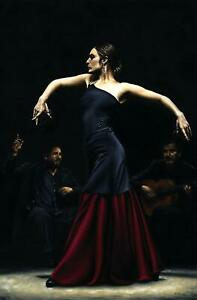Flamenco Dancer - Signed Fine Art Giclée Print. Beautiful figurative painting