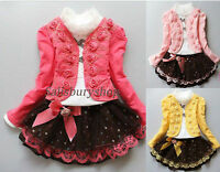 KIDS BABY GIRLS THREE PIECE PARTY DRESS WEDDING/ OCCASION/PARTY TUTU / AGE 3-7y