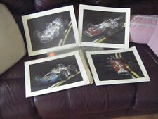 4 Indianapolis  Vintage 500 Race Car Prints  NOS