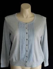 NEW Talbots woman plus 1X P blue 100% merino wool silk cardigan sweater NWT $109