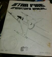 Exidy STAR FIRE Arcade Video Game Manual- good used original