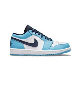 Nike Air Jordan Retro 1 Low UNC University Blue White GS - Size 6Y